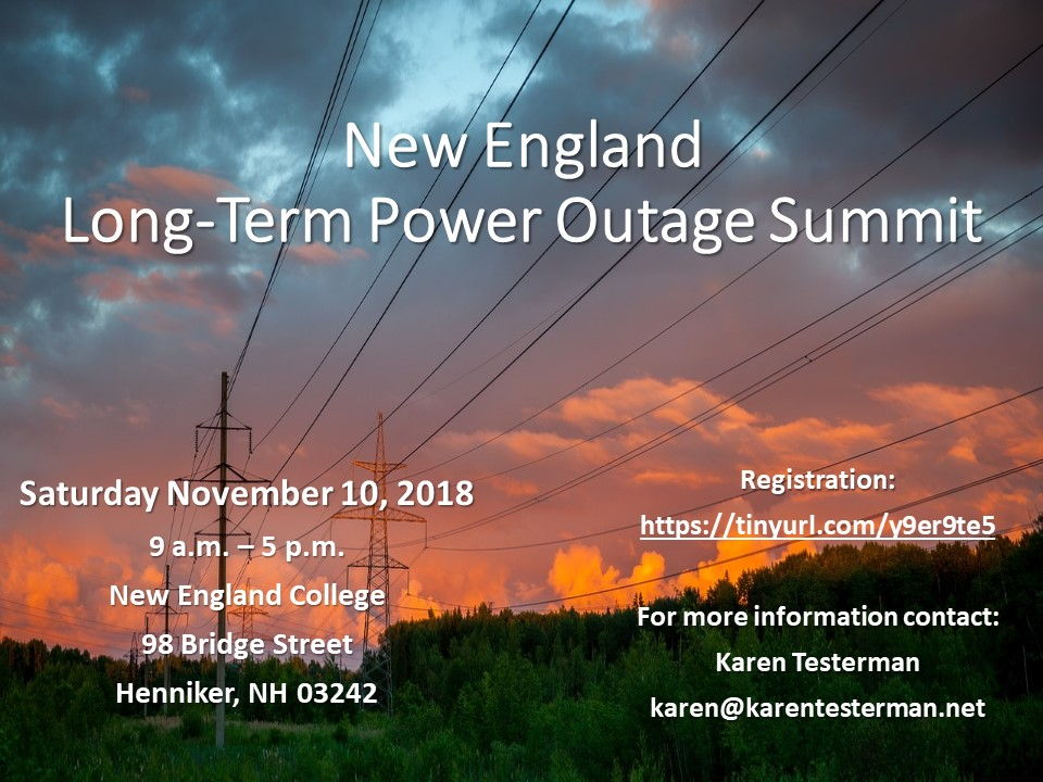 New England Long-Term Power Outage Summit