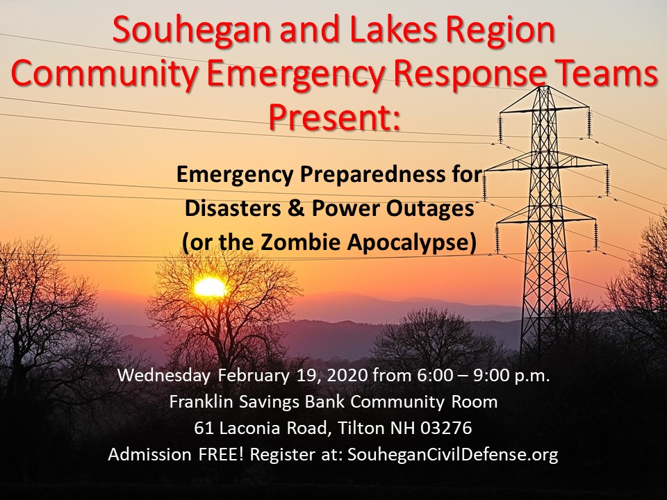 Emergency Preparedness for Disasters & Power Outages (or the Zombie Apocalypse)